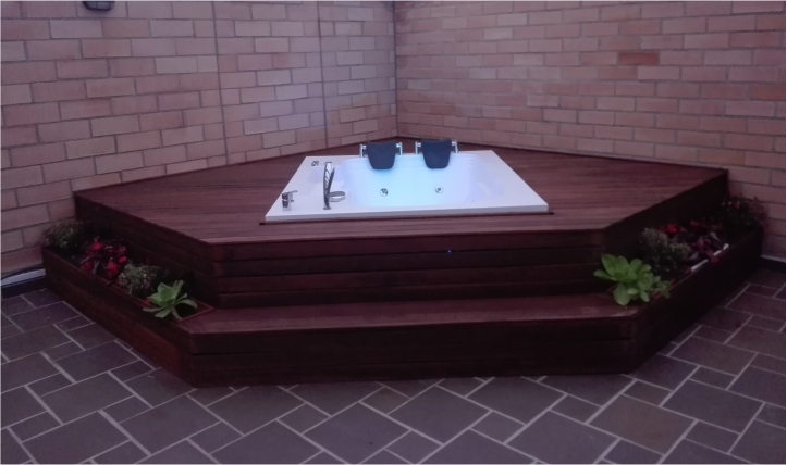 bañera placer con deck completo